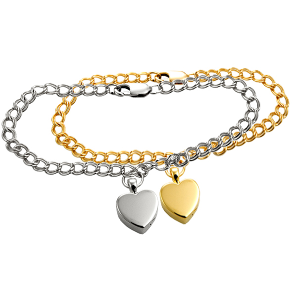 Pet Cremation Jewelry Bracelet In Silver And Gold
