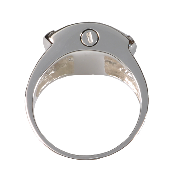Pet Cremation Jewelry Engravable Shield Ring
