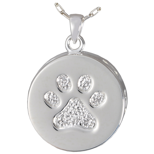 Paw print bones pet urn pendant front view of paw print bones pet urn pendant aloadofball Image collections