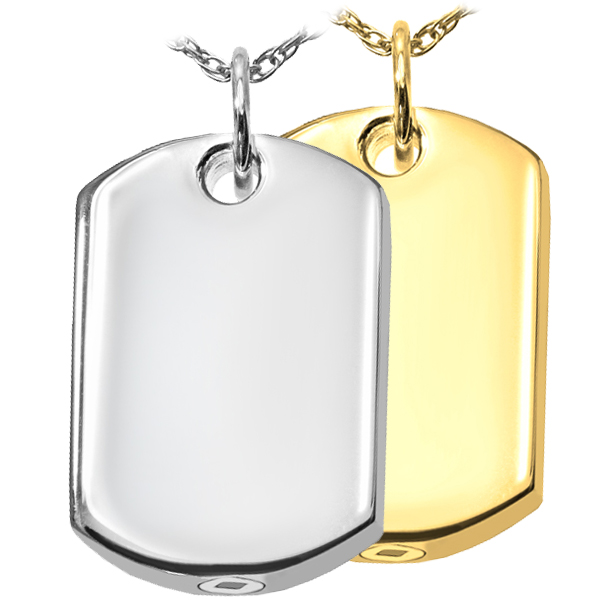 Dog Tag Pet Cremation Jewerly Pendant
