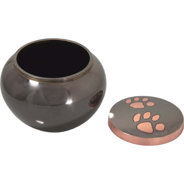 Pet Cremation Urns- Glossy Copper Puppy Pawprints- Extra Large
