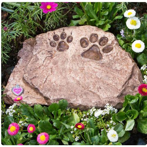 Cat Memorial Garden Stones Garden stone urn pet memorials memorial gallery pets grey memorial pet stone urn brown urn memorial stone with paw prints workwithnaturefo