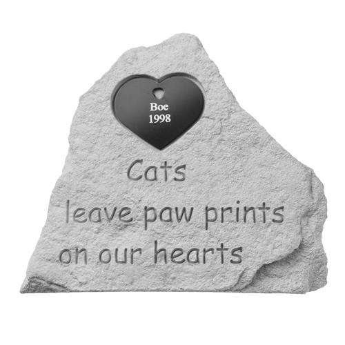 Cat Memorial Garden Stones Cats leave pawprints pet memorial garden stone memorial gallery pets pet memorial garden stone cats leave pawprintsengravable heart workwithnaturefo