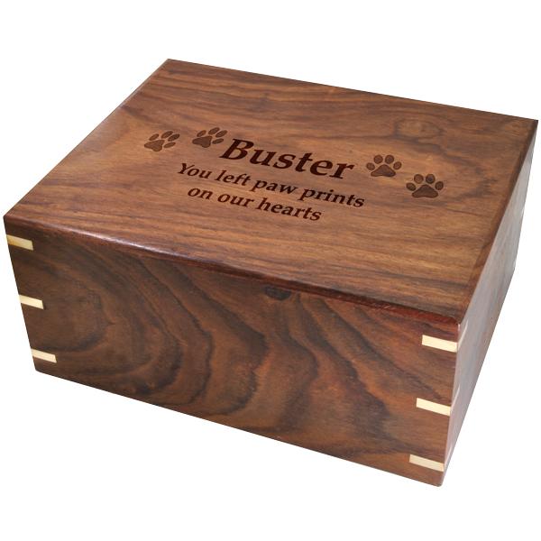 Small Dog Ashes Box