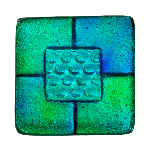 Pet Memorial Glass Keepsake Classic Tile Blue-Green