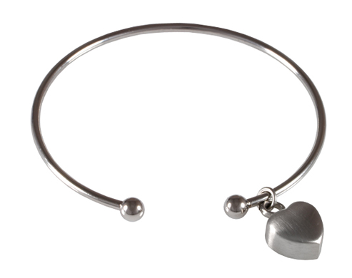 Pet Cremation Jewelry Cuff Bracelet with Heart