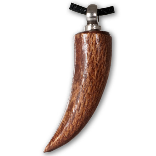 Sabre Tooth Dark Wood Pet Cremation Jewelry