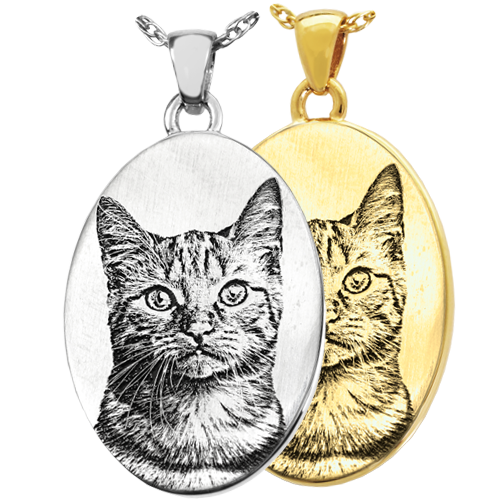 oval jewelry engraved with your pet photo