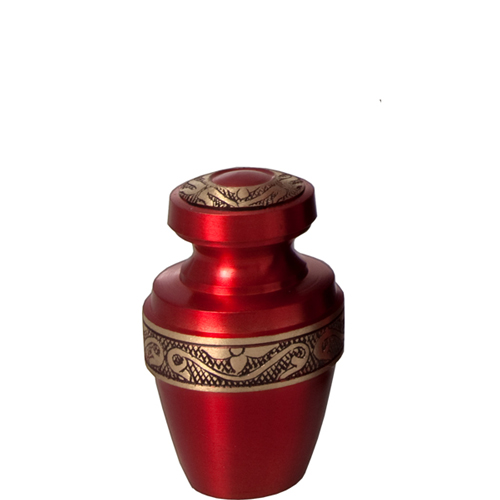 Pet Urn Keepsake- Scarlet Brass