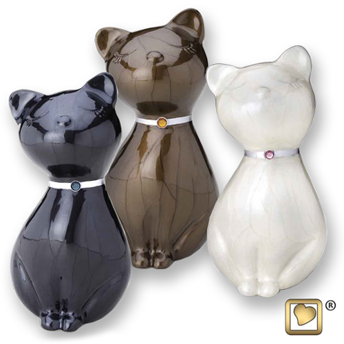 figurine cat urn
