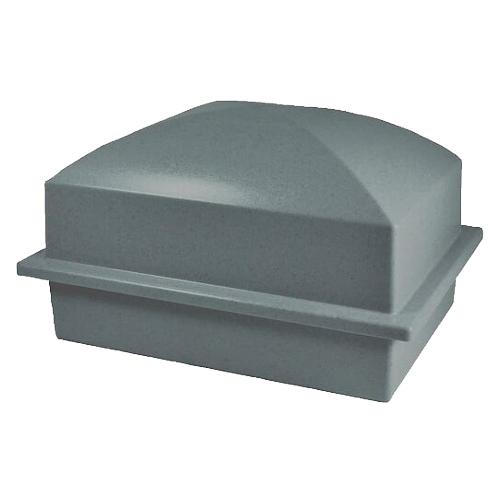 single pet burial vault in grey