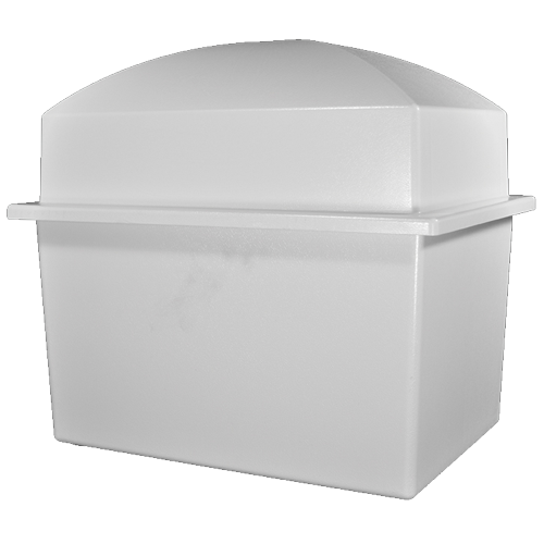 Pet Casket- Marquis Burial Vault in white