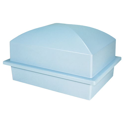 pet burial vault in blue
