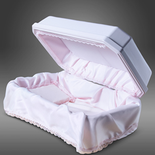 Double Wall Pet Deluxe Casket shown in Pink