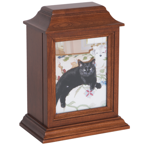cherry wood pet urn for pets