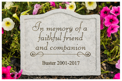 in memory of a faithful friend pet memorial stone