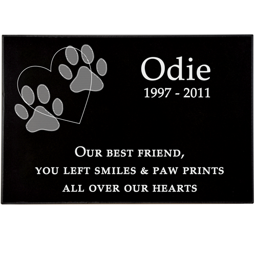 sample of granite pet grave marker layout