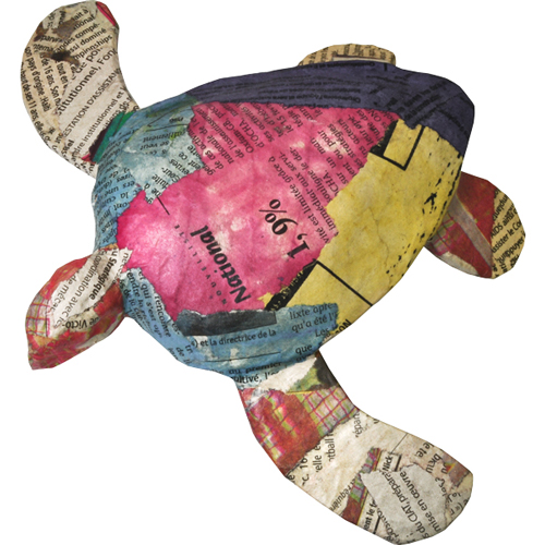 Biodegradable Pet Urn: Newsprint Paper Turtle