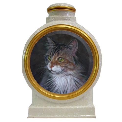 Custom Cat Portrait in Oil pet urn