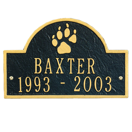 Pet paw mini arch memorial wall mount
