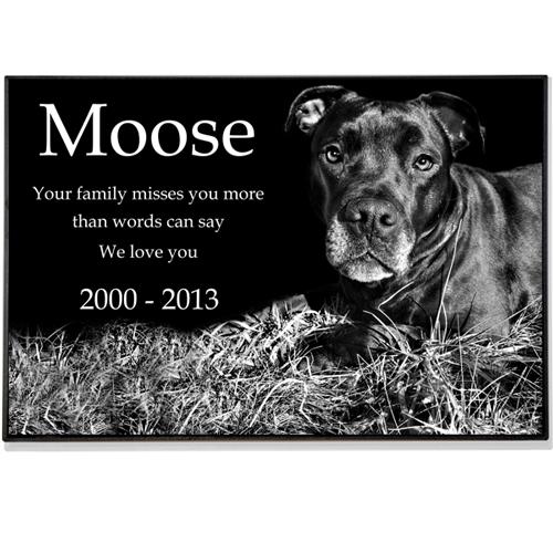 Granite Photo Pet Grave Marker 2 Quot Thick Pet Headstones