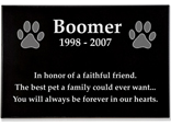 "Granite Pet Grave Marker - 1"" thick"