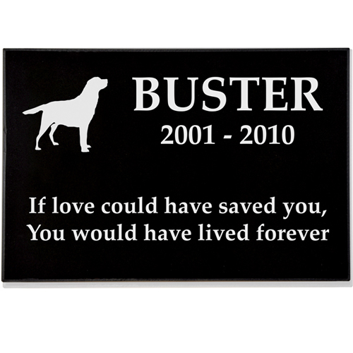 "Granite Pet Grave Marker - 2"" thick"