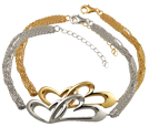 Linked in Love Bracelet Pet Cremation Jewelry in silver or gold