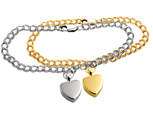 Pet Cremation Jewelry- Bracelet in silver and gold