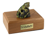 Iguana Urn: with Figurine