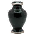 Shiny Dark Pet Cremation Urn