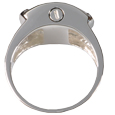 top view of  Pet Cremation Jewelry Sterling Silver Men's Ring