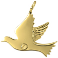 Urn opening shown on back of Dove pendant