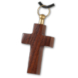Dark Wood Cross Pet Cremation Jewelry