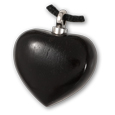 Ebony Wood Heart Pet Cremation Jewelry Pendant