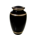 Cat Cremation Urn Plain Black Gold