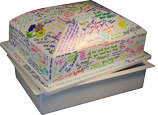 Pet Casket- Crowned Burial Vault- easy to personalize
