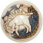 detail of sleeping cats on lid of cat heaven cremation urn