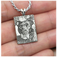 custom pet photo engraved onto sterling silver charm