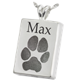 Perfect Rectangle Pawprint in silver