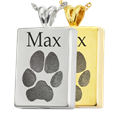 Perfect Rectangle Pawprint in silver and gold