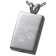 perfect rectangle pet cremation jewelry shown engraved