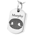 Pet Print Cremation Jewelry- Dog Tag Noseprint in silver