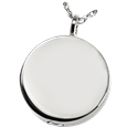 Silver Simple Round Pet Cremation Jewelry