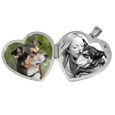 Pet photo shown inside double photo locket