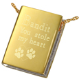 Pet Book Cremation Jewelry: The Sequel shown engraved