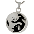 Kitty Yin Yang Pet Cremation Jewelry
