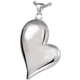 silver heart jewelry holds pet ashes