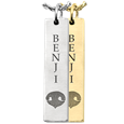 Personalized Bar Pendant Vertical- Nose Print Pet Jewelry