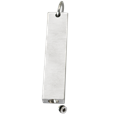 silver bar pendant with chamber opening